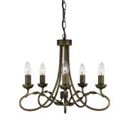 Olivia 5 Light Fitting in a Black Gold Finish - ELSTEAD OV5 BG